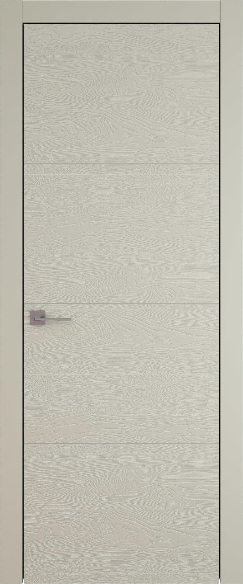 Tivoli Г-3 цвет - Серо-оливковая эмаль по шпону (RAL 7032) Без стекла (ДГ)