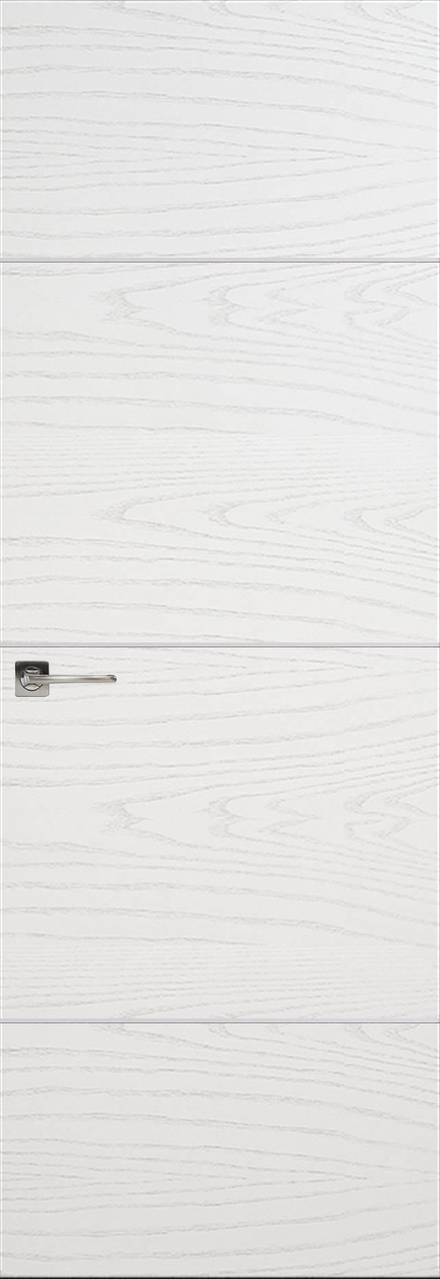 Tivoli Г-3 Invisible цвет - Ясень белая эмаль Без стекла (ДГ)