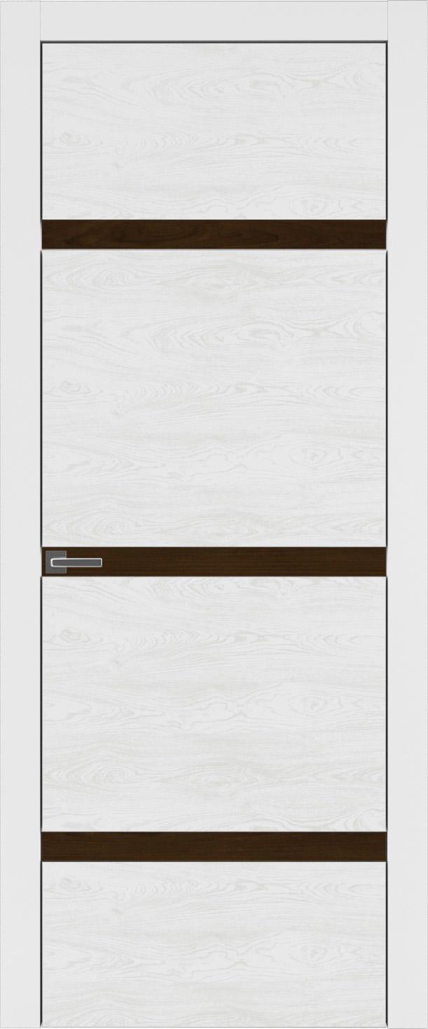 Tivoli Г-4 цвет - Белая эмаль по шпону (RAL 9003) Без стекла (ДГ)