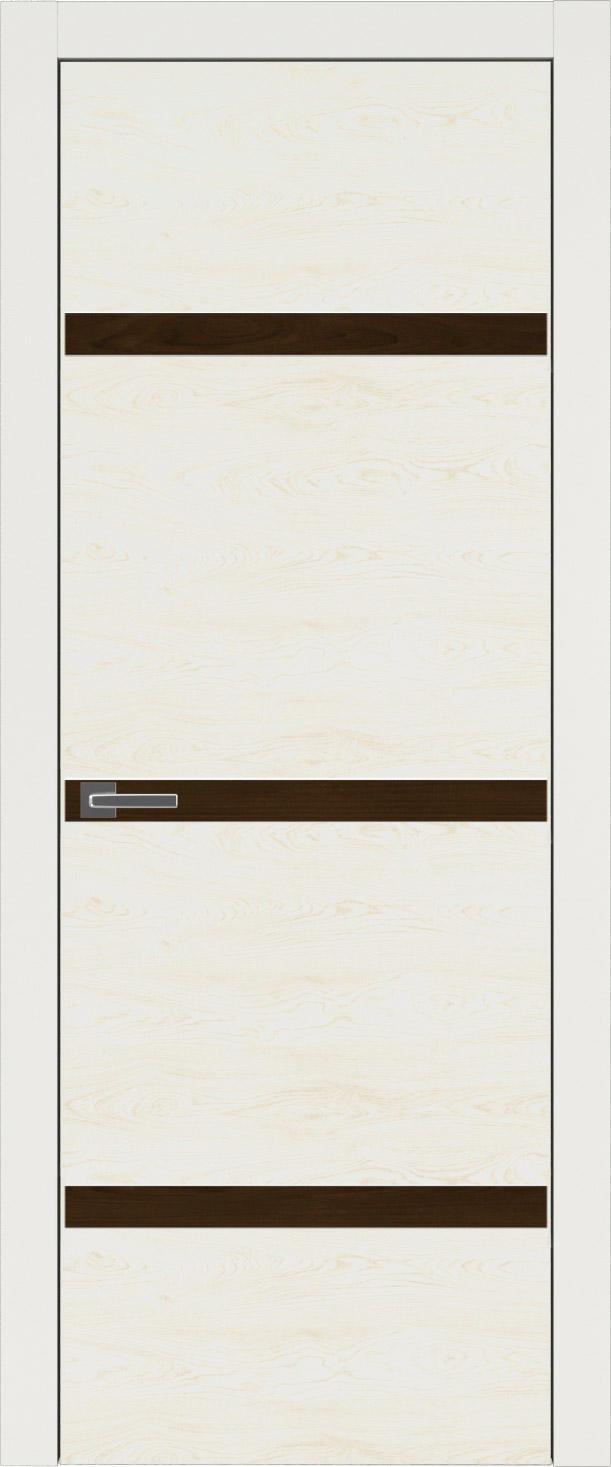 Tivoli Г-4 цвет - Бежевая эмаль по шпону (RAL 9010) Без стекла (ДГ)