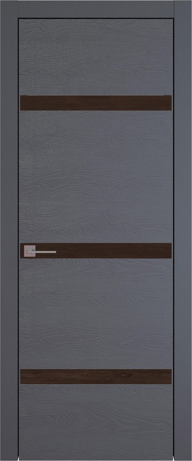 Tivoli Г-4 цвет - Графитово-серая эмаль по шпону (RAL 7024) Без стекла (ДГ)
