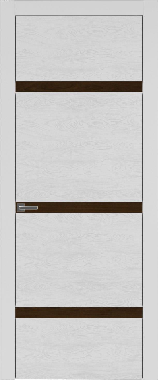 Tivoli Г-4 цвет - Серая эмаль по шпону (RAL 7047) Без стекла (ДГ)
