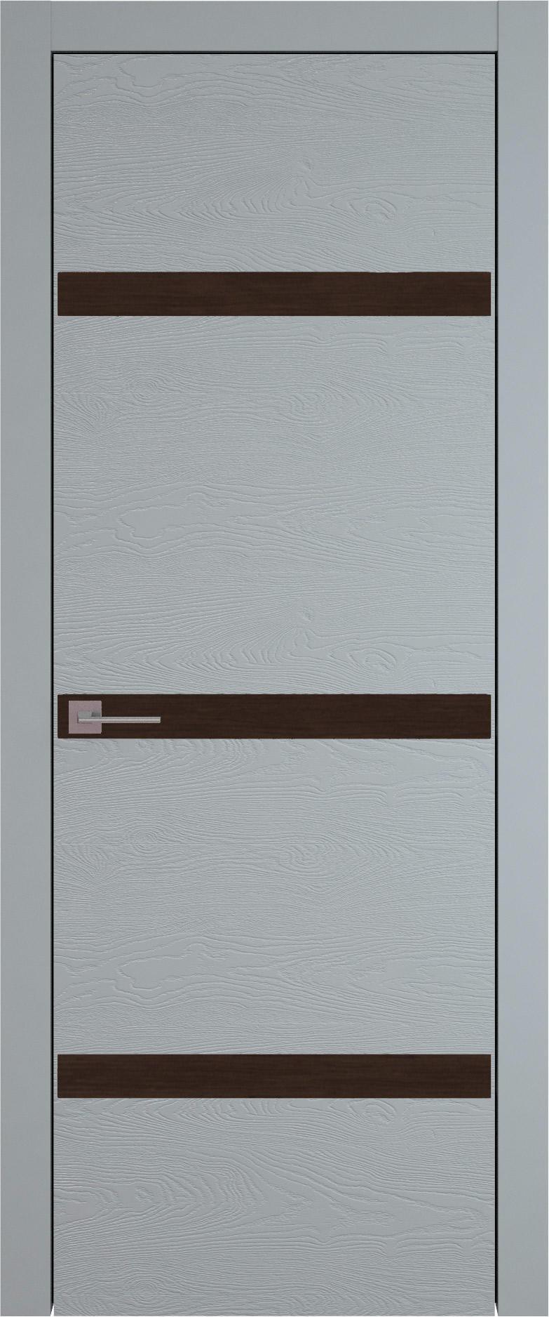 Tivoli Г-4 цвет - Серебристо-серая эмаль по шпону (RAL 7045) Без стекла (ДГ)