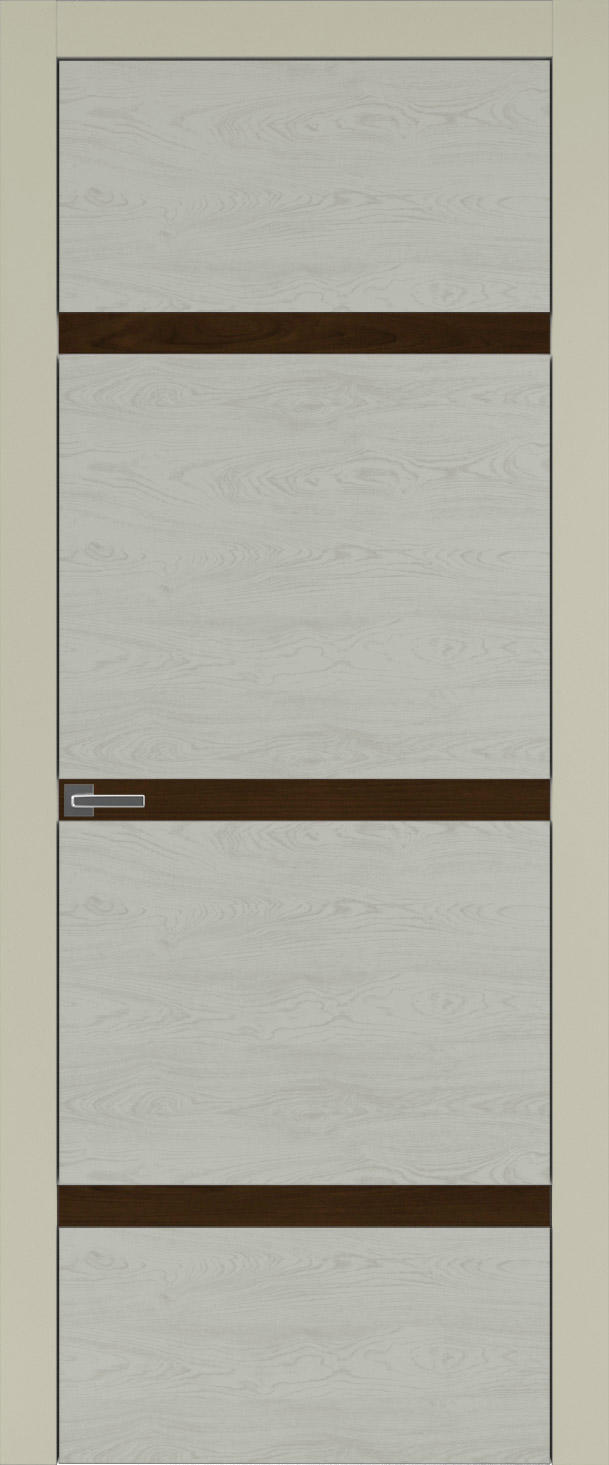 Tivoli Г-4 цвет - Серо-оливковая эмаль по шпону (RAL 7032) Без стекла (ДГ)