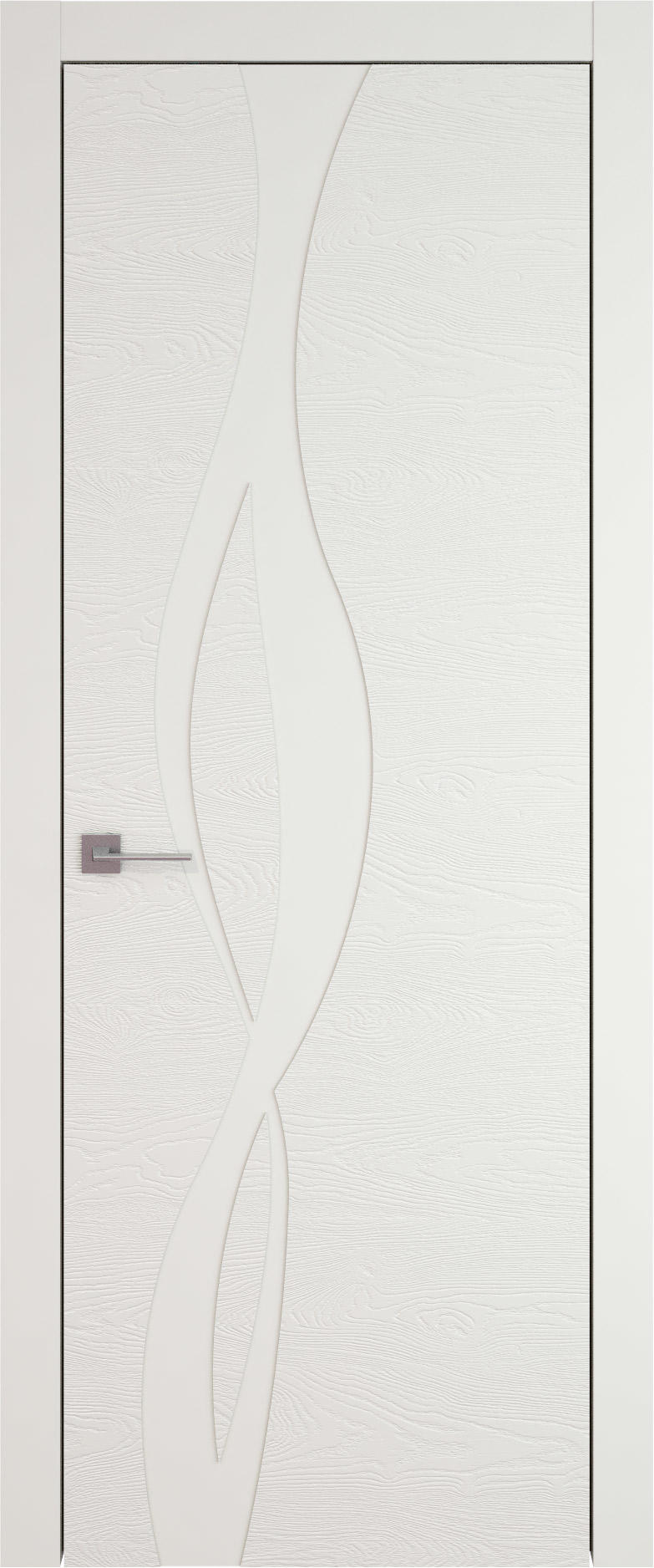 Tivoli Г-5 цвет - Бежевая эмаль по шпону (RAL 9010) Без стекла (ДГ)