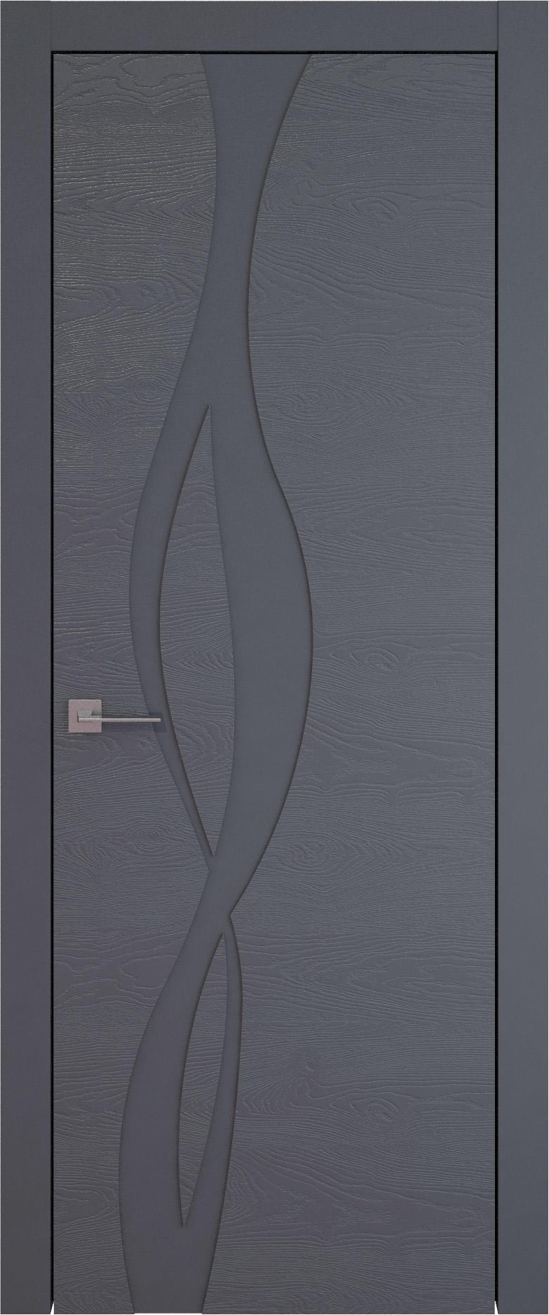 Tivoli Г-5 цвет - Графитово-серая эмаль по шпону (RAL 7024) Без стекла (ДГ)