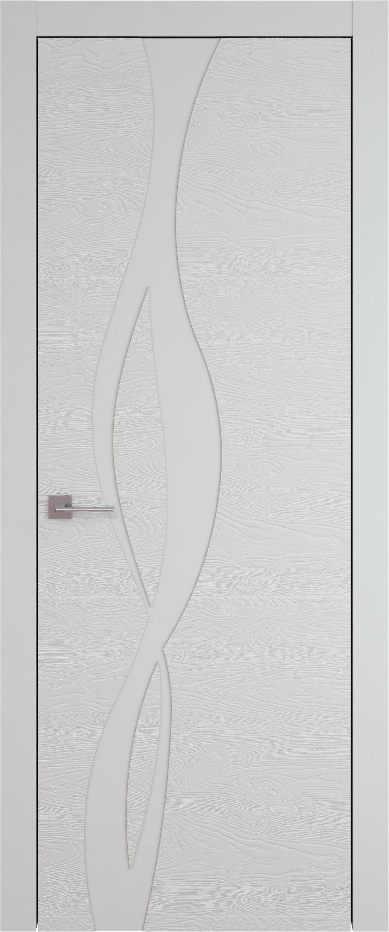 Tivoli Г-5 цвет - Серая эмаль по шпону (RAL 7047) Без стекла (ДГ)