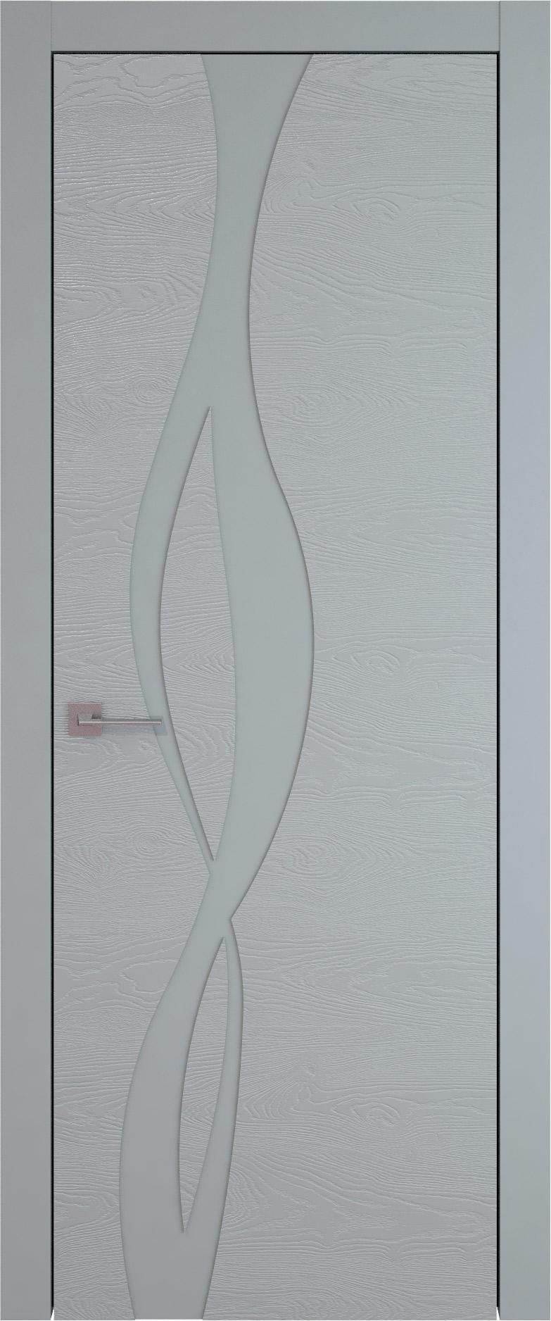 Tivoli Г-5 цвет - Серебристо-серая эмаль по шпону (RAL 7045) Без стекла (ДГ)