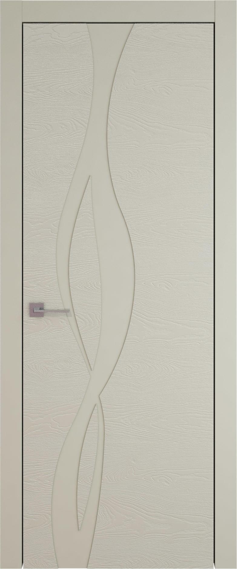 Tivoli Г-5 цвет - Серо-оливковая эмаль по шпону (RAL 7032) Без стекла (ДГ)
