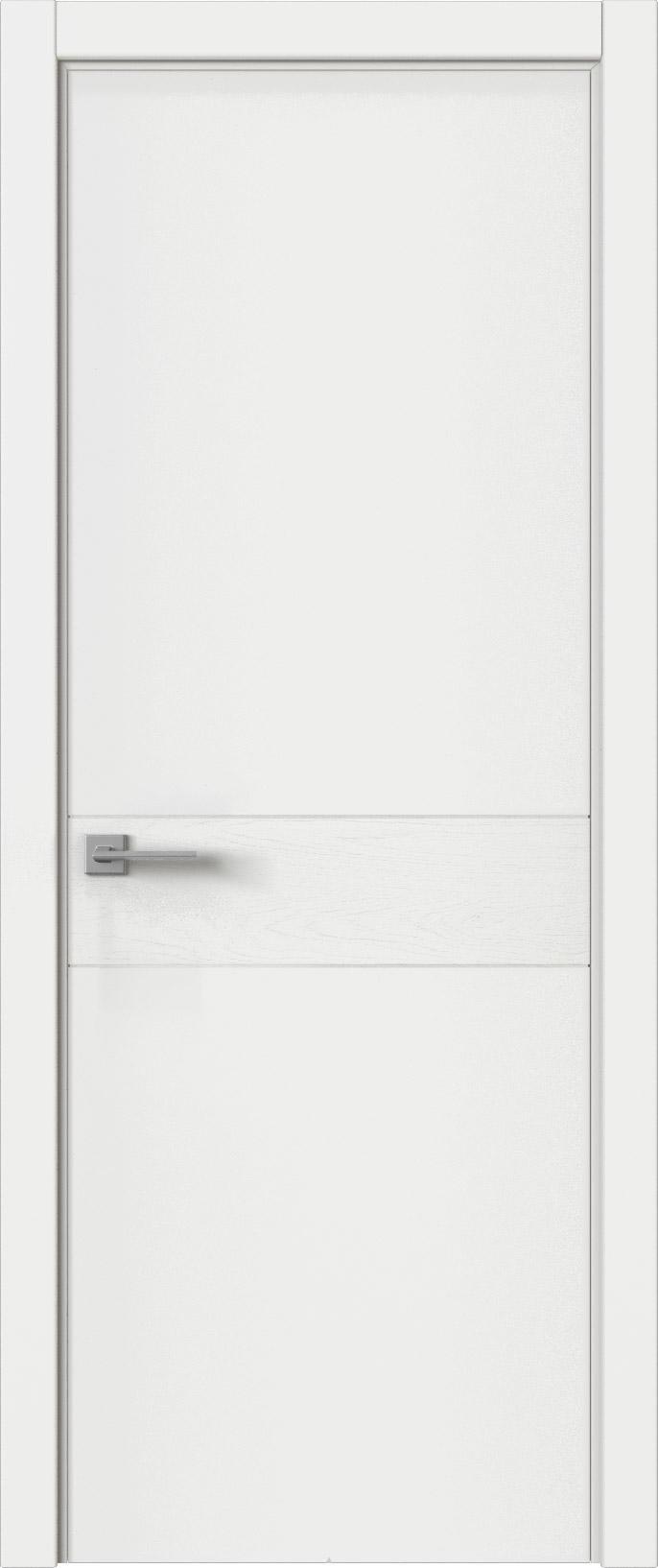 Tivoli И-2 цвет - Белая эмаль-эмаль по шпону (RAL 9003) Без стекла (ДГ)