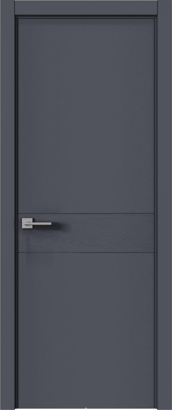 Tivoli И-2 цвет - Графитово-серая эмаль-эмаль по шпону (RAL 7024) Без стекла (ДГ)