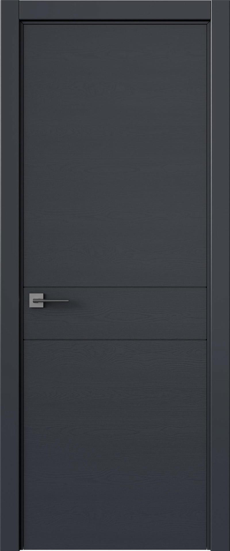 Tivoli И-2 цвет - Графитово-серая эмаль по шпону (RAL 7024) Без стекла (ДГ)
