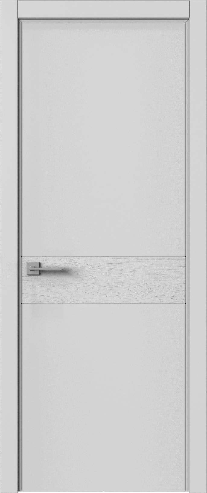 Tivoli И-2 цвет - Серая эмаль-эмаль по шпону (RAL 7047) Без стекла (ДГ)