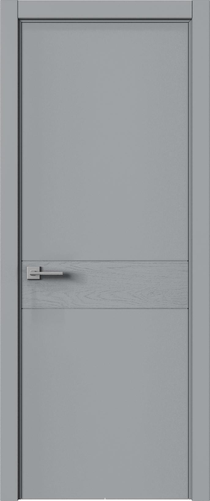 Tivoli И-2 цвет - Серебристо-серая эмаль-эмаль по шпону (RAL 7045) Без стекла (ДГ)