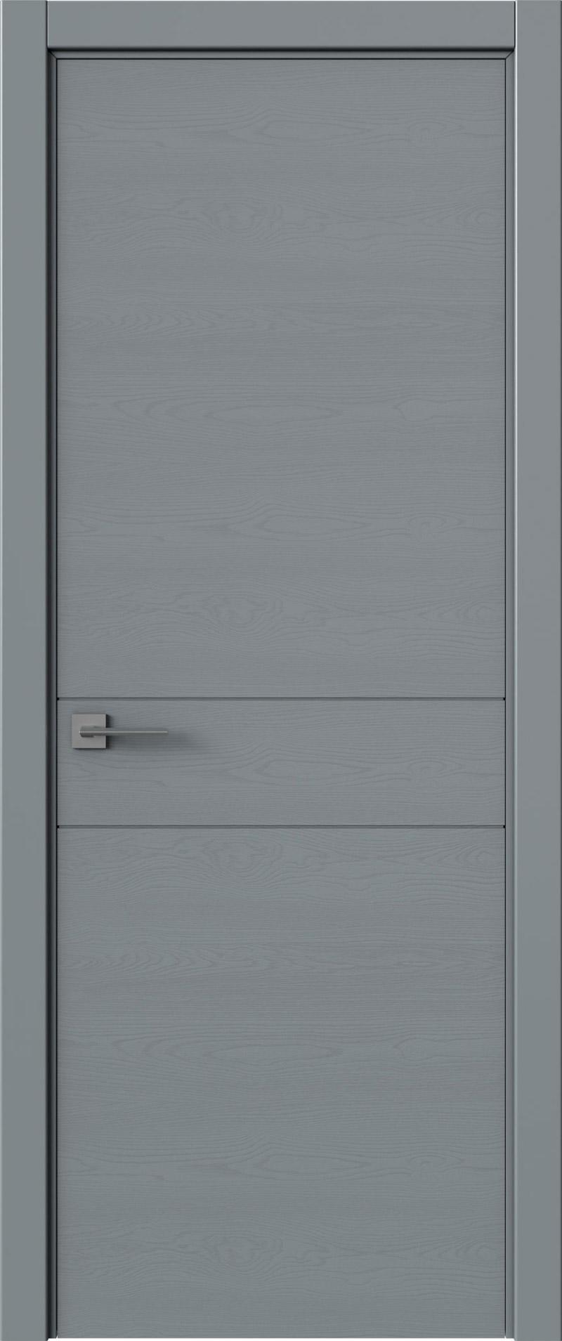 Tivoli И-2 цвет - Серебристо-серая эмаль по шпону (RAL 7045) Без стекла (ДГ)