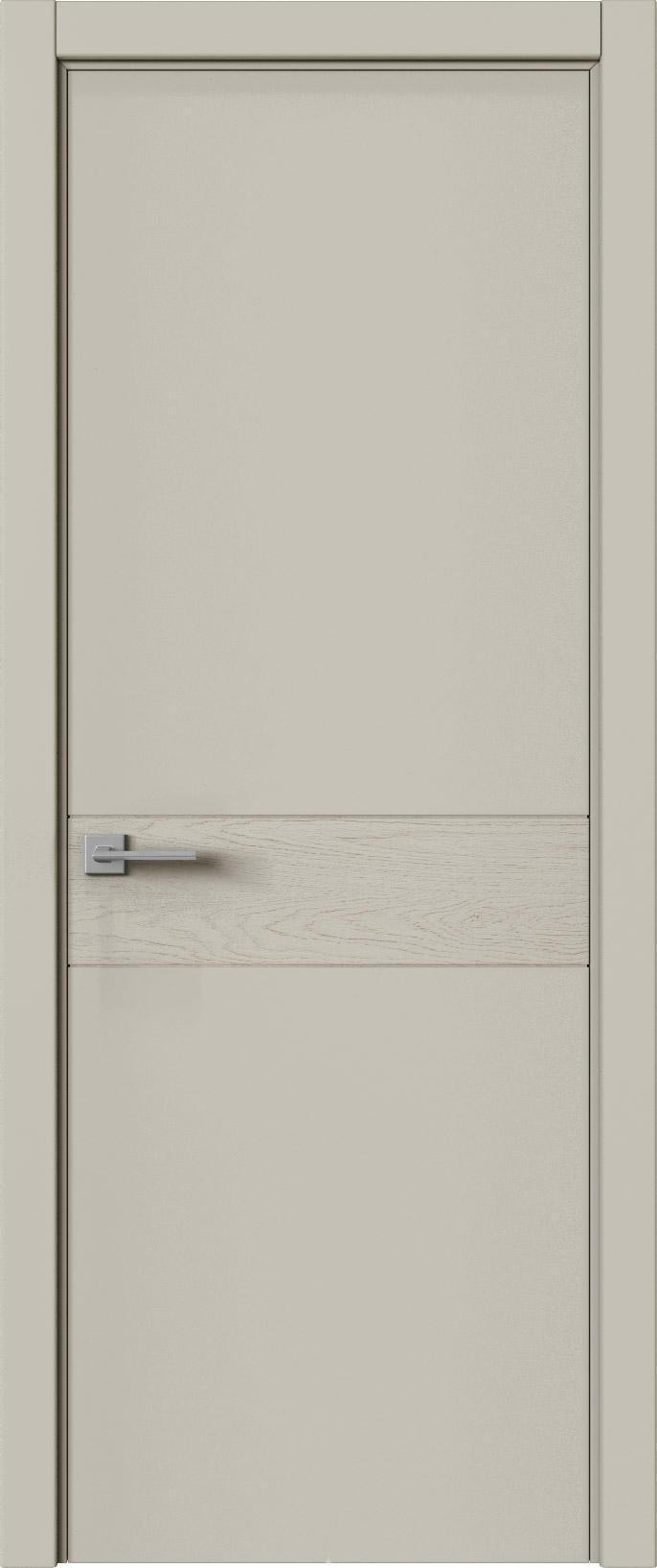 Tivoli И-2 цвет - Серо-оливковая эмаль-эмаль по шпону (RAL 7032) Без стекла (ДГ)