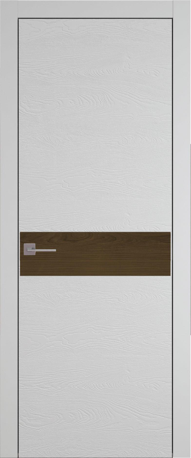Tivoli И-4 цвет - Серая эмаль по шпону (RAL 7047) Без стекла (ДГ)