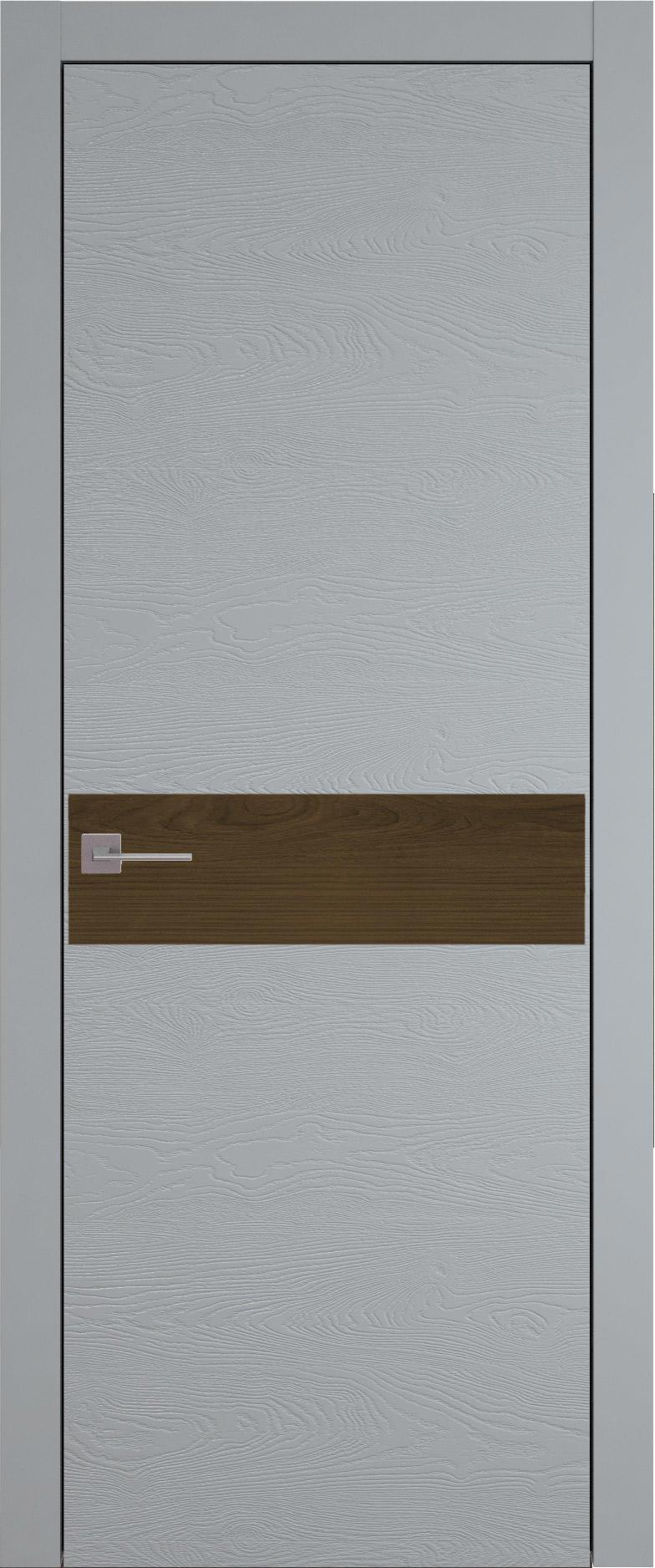 Tivoli И-4 цвет - Серебристо-серая эмаль по шпону (RAL 7045) Без стекла (ДГ)