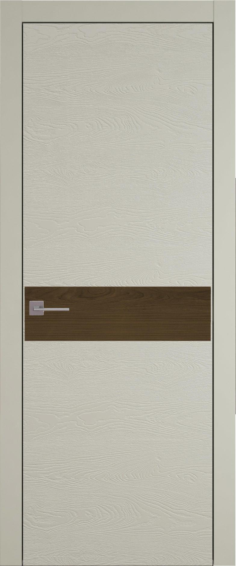 Tivoli И-4 цвет - Серо-оливковая эмаль по шпону (RAL 7032) Без стекла (ДГ)