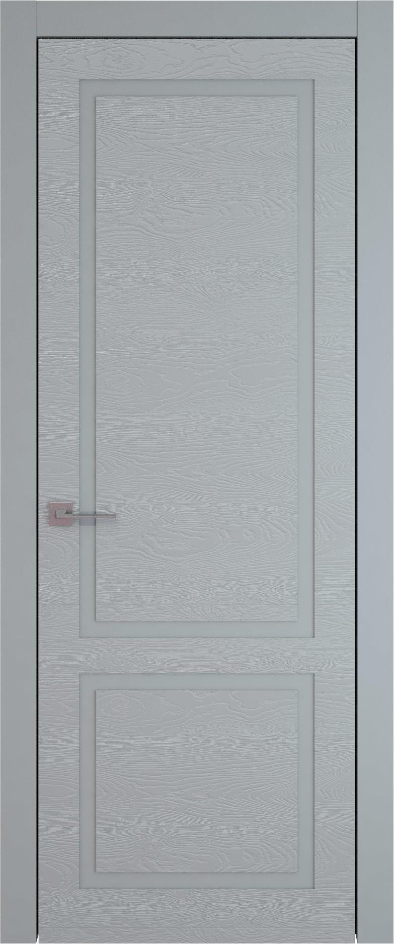 Tivoli И-5 цвет - Серебристо-серая эмаль по шпону (RAL 7045) Без стекла (ДГ)