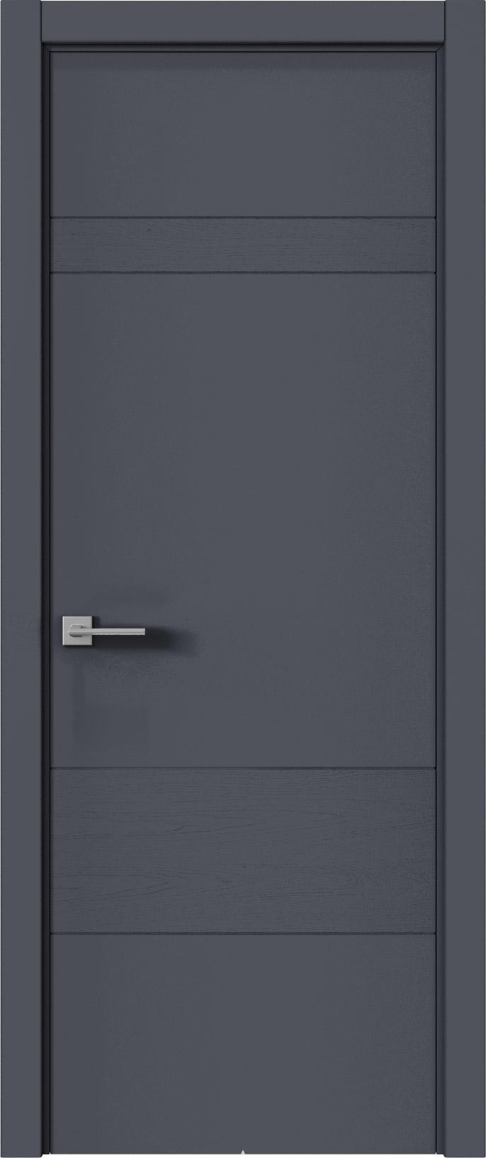 Tivoli К-2 цвет - Графитово-серая эмаль-эмаль по шпону (RAL 7024) Без стекла (ДГ)