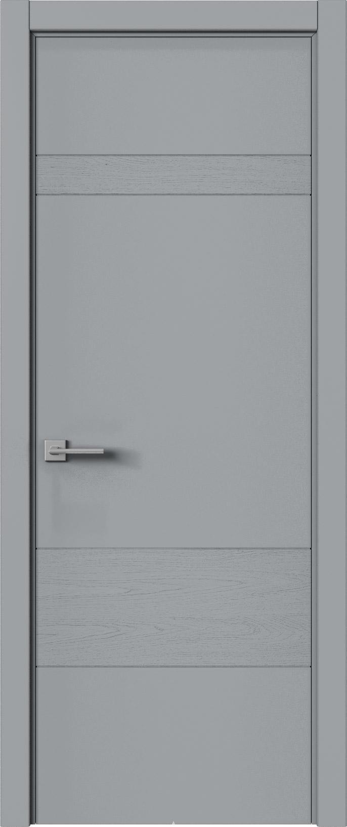 Tivoli К-2 цвет - Серебристо-серая эмаль-эмаль по шпону (RAL 7045) Без стекла (ДГ)