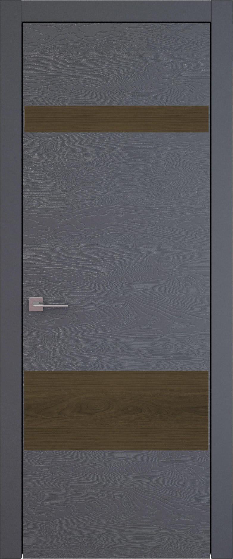 Tivoli К-4 цвет - Графитово-серая эмаль по шпону (RAL 7024) Без стекла (ДГ)