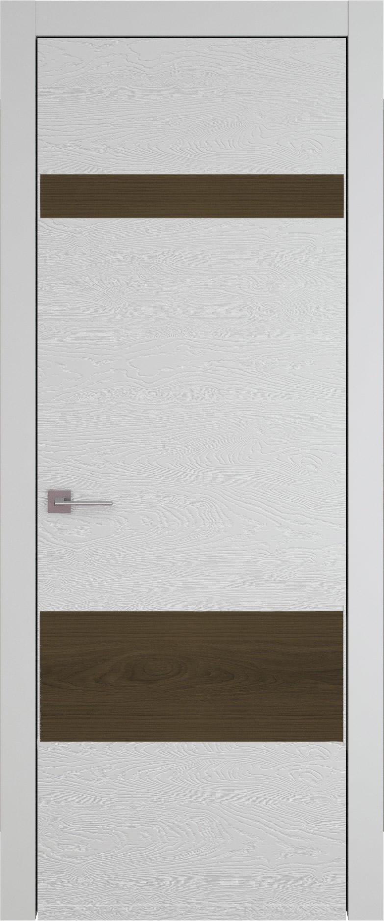 Tivoli К-4 цвет - Серая эмаль по шпону (RAL 7047) Без стекла (ДГ)