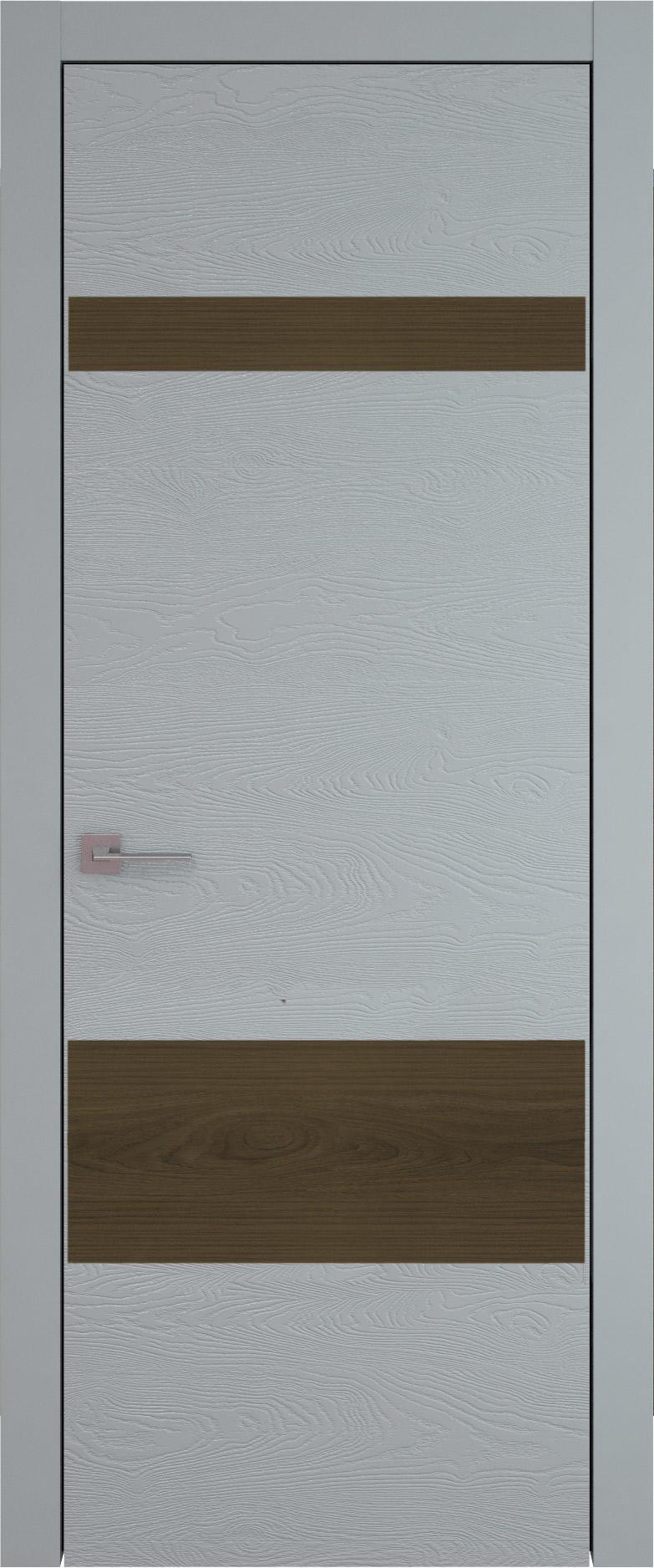 Tivoli К-4 цвет - Серебристо-серая эмаль по шпону (RAL 7045) Без стекла (ДГ)