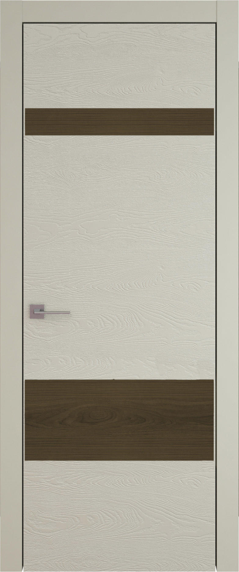 Tivoli К-4 цвет - Серо-оливковая эмаль по шпону (RAL 7032) Без стекла (ДГ)