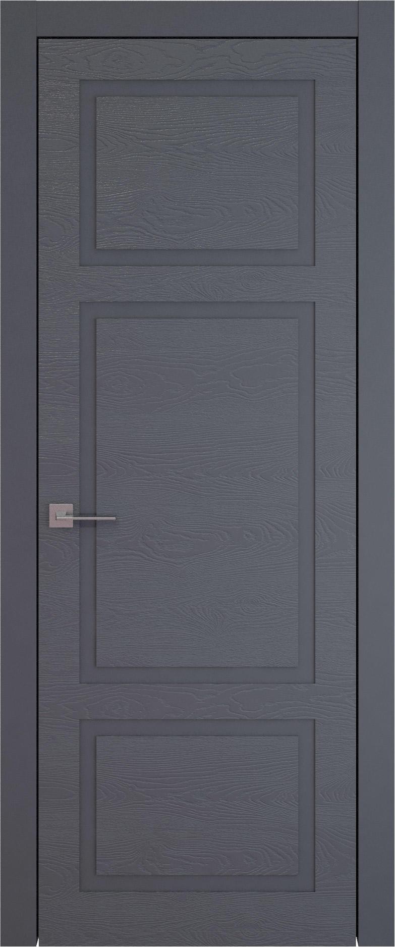Tivoli К-5 цвет - Графитово-серая эмаль по шпону (RAL 7024) Без стекла (ДГ)