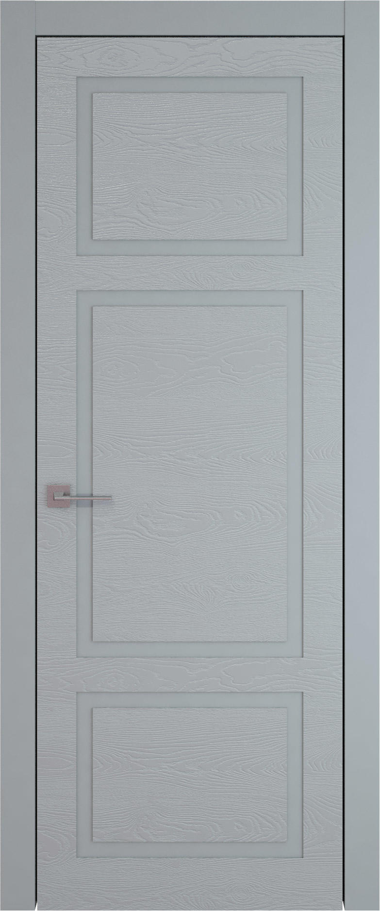 Tivoli К-5 цвет - Серебристо-серая эмаль по шпону (RAL 7045) Без стекла (ДГ)