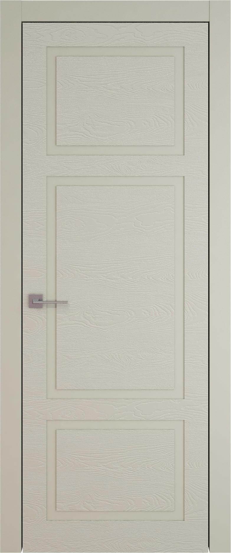 Tivoli К-5 цвет - Серо-оливковая эмаль по шпону (RAL 7032) Без стекла (ДГ)