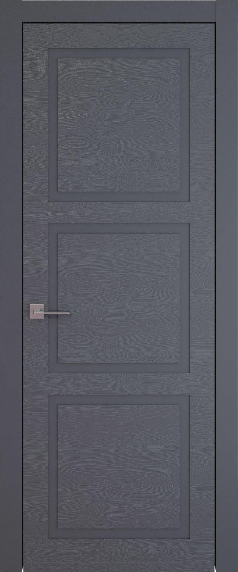 Tivoli Л-5 цвет - Графитово-серая эмаль по шпону (RAL 7024) Без стекла (ДГ)