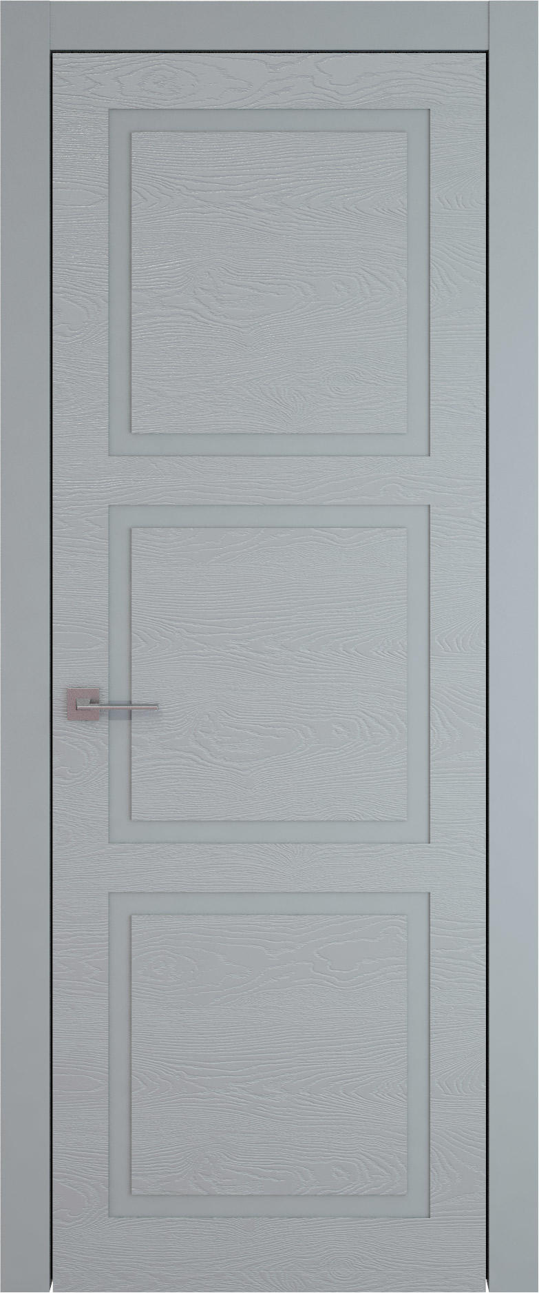Tivoli Л-5 цвет - Серебристо-серая эмаль по шпону (RAL 7045) Без стекла (ДГ)