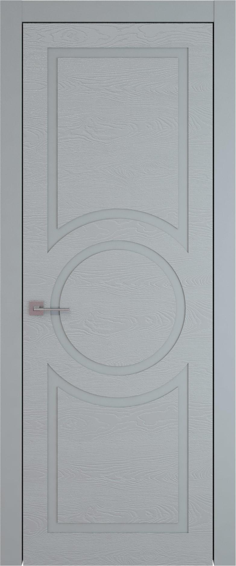 Tivoli М-5 цвет - Серебристо-серая эмаль по шпону (RAL 7045) Без стекла (ДГ)