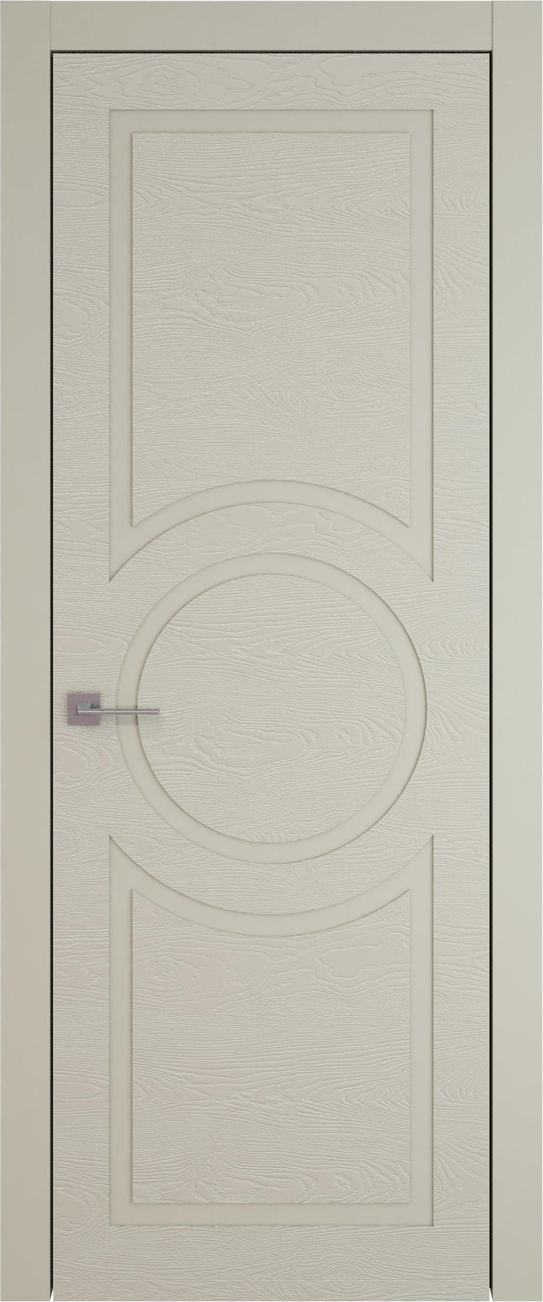 Tivoli М-5 цвет - Серо-оливковая эмаль по шпону (RAL 7032) Без стекла (ДГ)