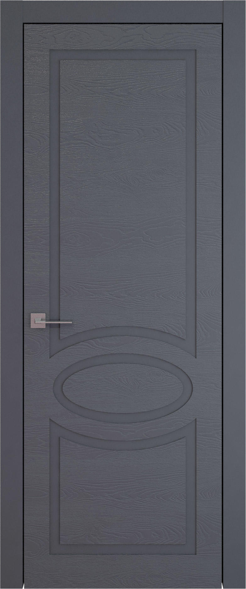 Tivoli Н-5 цвет - Графитово-серая эмаль по шпону (RAL 7024) Без стекла (ДГ)