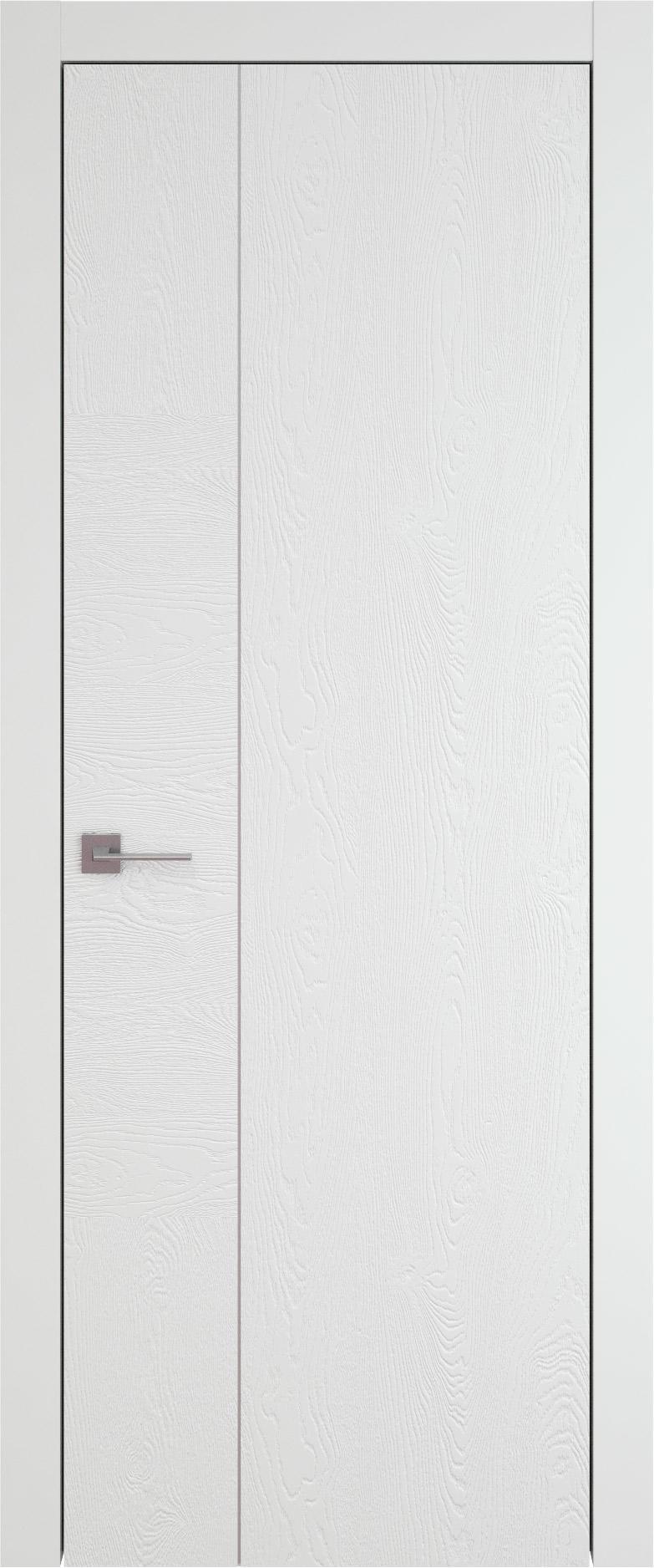 Tivoli В-1 цвет - Белая эмаль по шпону (RAL 9003) Без стекла (ДГ)