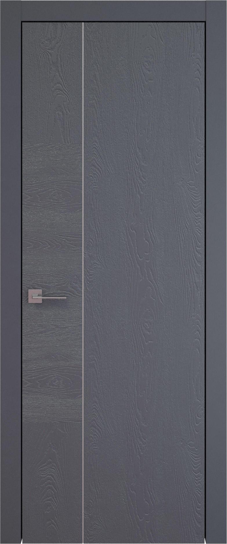 Tivoli В-1 цвет - Графитово-серая эмаль по шпону (RAL 7024) Без стекла (ДГ)
