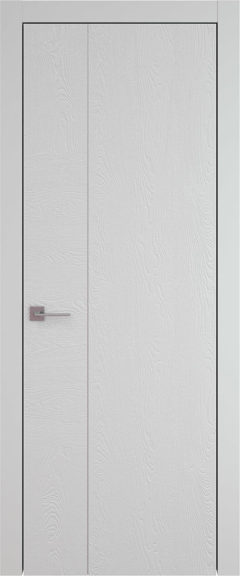 Tivoli В-1 цвет - Серая эмаль по шпону (RAL 7047) Без стекла (ДГ)