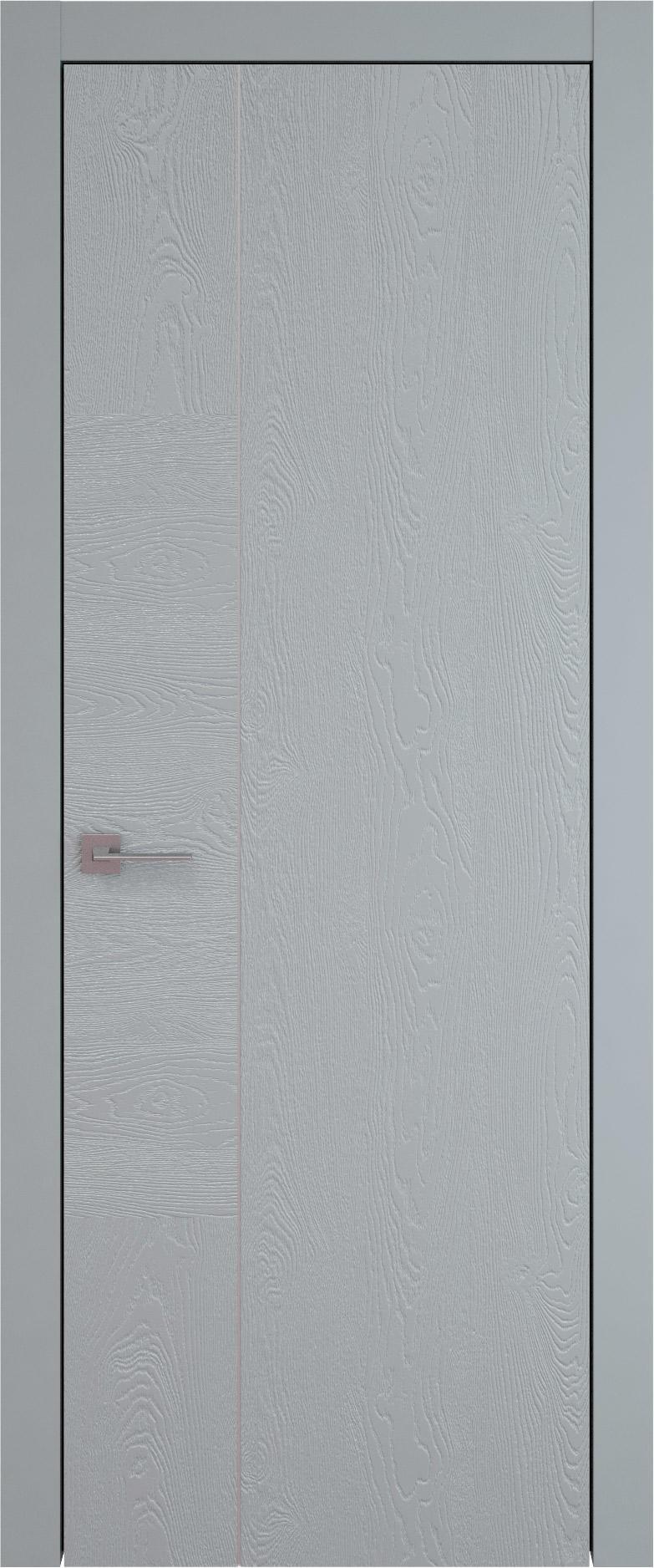 Tivoli В-1 цвет - Серебристо-серая эмаль по шпону (RAL 7045) Без стекла (ДГ)