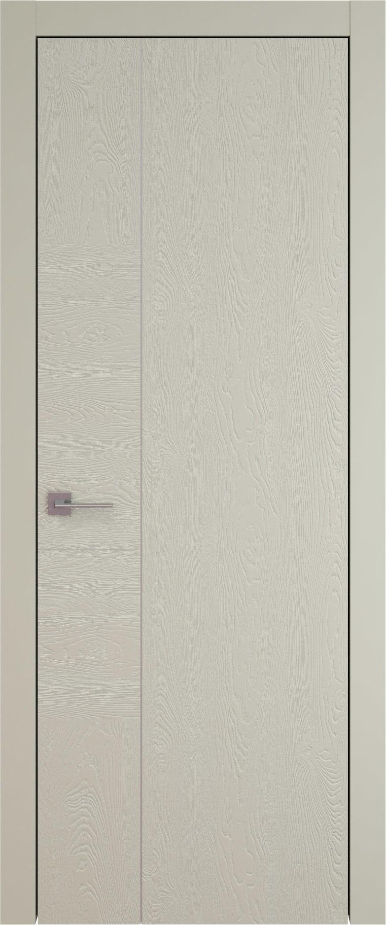 Tivoli В-1 цвет - Серо-оливковая эмаль по шпону (RAL 7032) Без стекла (ДГ)