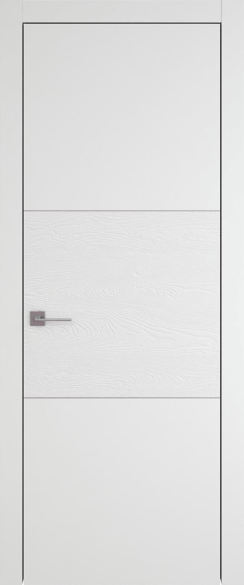 Tivoli В-2 цвет - Белая эмаль-эмаль по шпону (RAL 9003) Без стекла (ДГ)