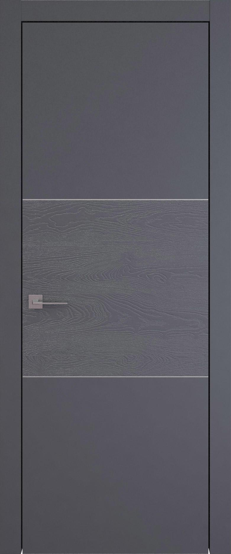 Tivoli В-2 цвет - Графитово-серая эмаль-эмаль по шпону (RAL 7024) Без стекла (ДГ)