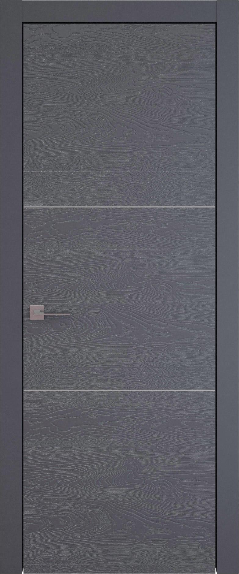 Tivoli В-2 цвет - Графитово-серая эмаль по шпону (RAL 7024) Без стекла (ДГ)