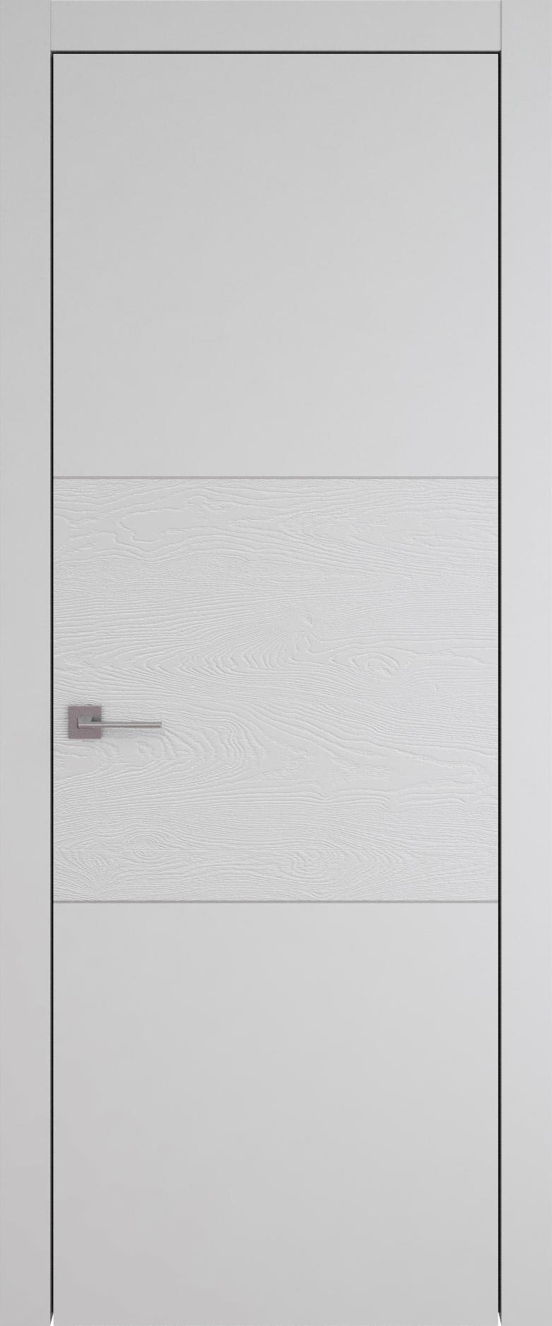 Tivoli В-2 цвет - Серая эмаль-эмаль по шпону (RAL 7047) Без стекла (ДГ)