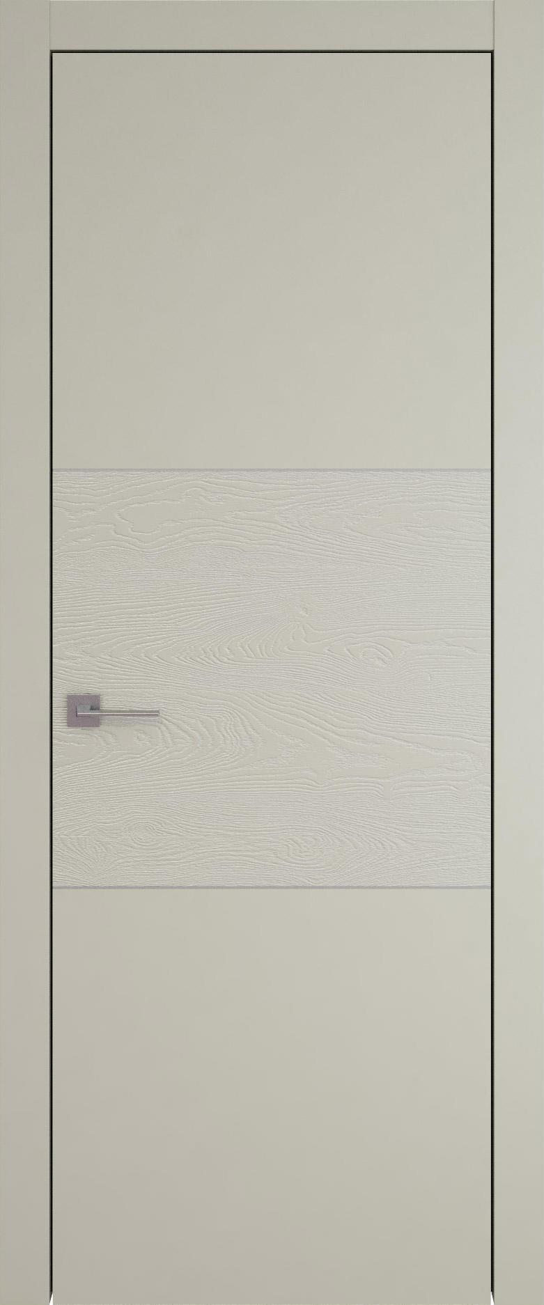 Tivoli В-2 цвет - Серо-оливковая эмаль-эмаль по шпону (RAL 7032) Без стекла (ДГ)