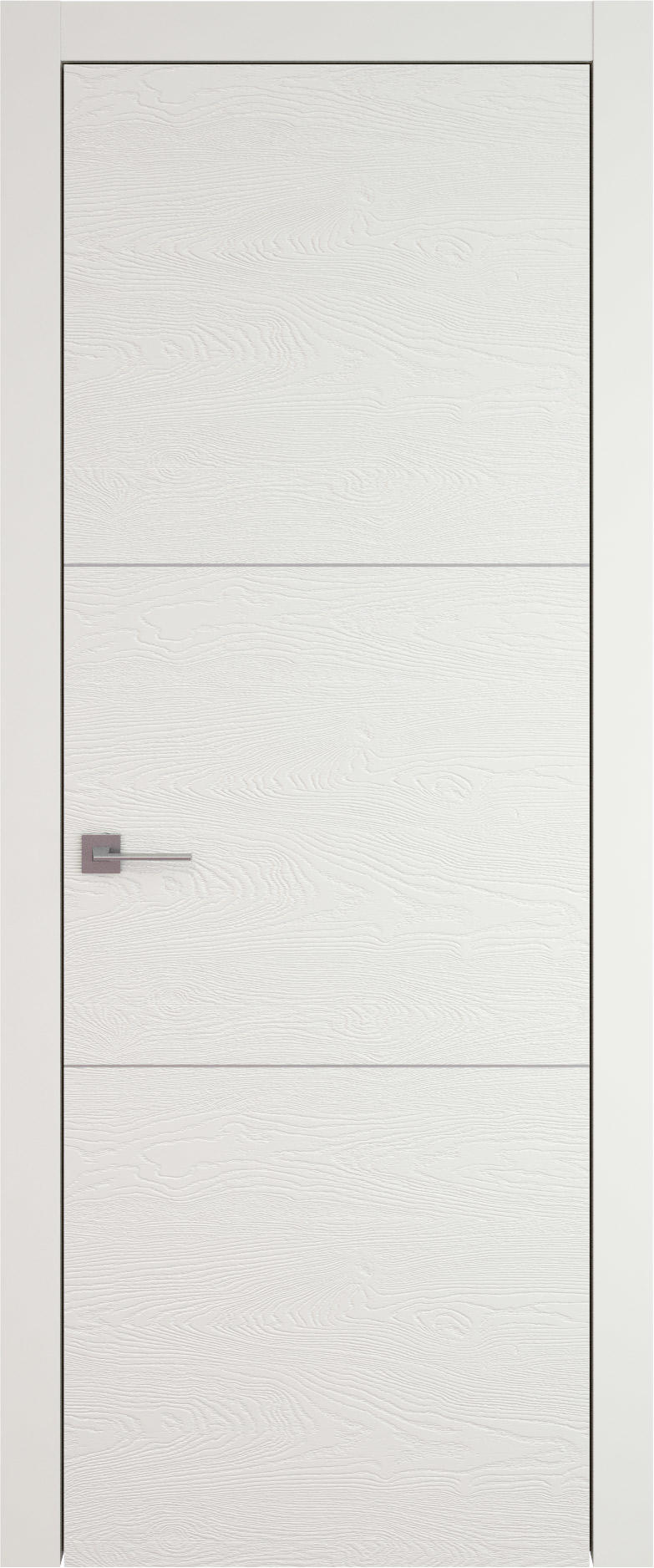 Tivoli В-3 цвет - Бежевая эмаль по шпону (RAL 9010) Без стекла (ДГ)