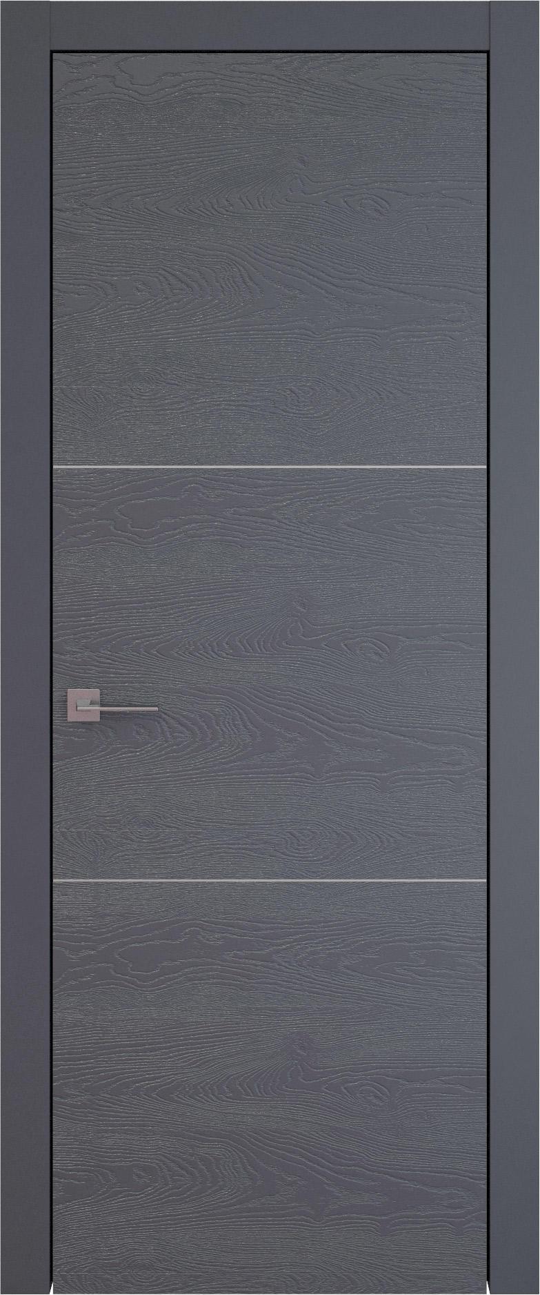 Tivoli В-3 цвет - Графитово-серая эмаль по шпону (RAL 7024) Без стекла (ДГ)